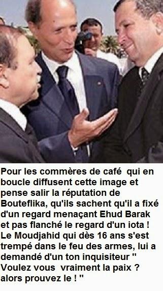Rencontre bouteflika ehud barak